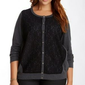 Vince Camuto lace overlay cardigan